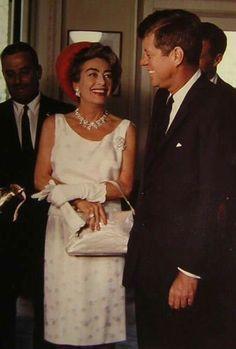 Joan Crawford with John F.Kennedy.....