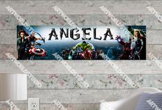 Personalized/Customized The Avengers Poster, Border Mat and Frame Options Banner 212