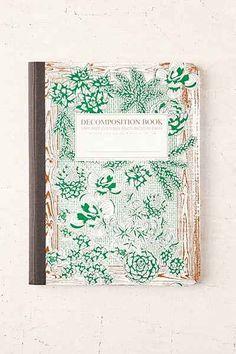 Decomposition Book Succulent Notebook