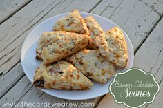 Bacon Cheddar Scones from The Cards We Drew #pmedia #porkinapinch