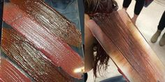 This Brand-New Way of Coloring Hair Will Blow Your Mind - Hand pressing
