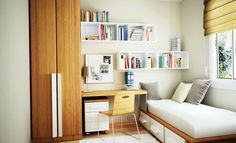 Interior Design Ideas for Small Houses : bedroom interior design ideas for small bedroom. Bedroom interior design ideas for small bedroom. Small Bedroom Hacks, Small Bedroom Designs, Small Room Decor, Ideas For Small Bedrooms, Spare Bedroom Ideas, Extra Bedroom, Tiny Spare Room Ideas, Bedroom Storage Hacks, Small Bedroom Ideas For Teens