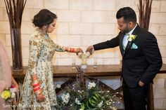 Indian Fusion Wedding Ceremony at Redlands Adventist Church, Samson Productions Indian Fusion Wedding, Floral Tie, Wedding Ceremony, Groom, Traditional, Bride, Elegant, Couples, Celebrities