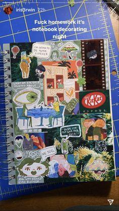 Bullet Journal Art, Bullet Journal Ideas Pages, Bullet Journal Inspiration, Collage Book, Wall Collage, Journal Aesthetic, Aesthetic Art, Arte Gcse, Cute Journals