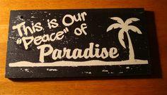 Tropical Bar Decor | Rustic Wood Slat Beach Home Decor / Tiki Bar Sign
