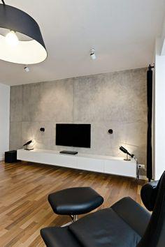 98 custom design tv wall tips for the living room 56 Living Room Tv, Home And Living, Home Interior Design, Living Room Designs, Furniture Design, House Design, Home Decor, Tv Unit, Czech Republic