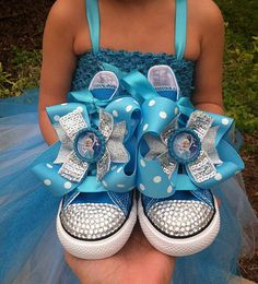 FROZEN SHOES Elsa and Ana Frozen Party Elsa by SparkleToes3