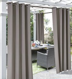 Outdoor Cabana Stripe or Solid Curtain offers protection from the sun, while adding a decorative touch to your patio or gazebo. Treated for outdoor conditions, Pergola Curtains, Patio Gazebo, Outdoor Curtains, Pergola Swing, Hammock Swing, Outdoor Blinds, Drapery Panels, Grommet Curtains, Panel Curtains