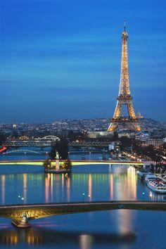 Blue Hour, the Eiffel Tower, Paris, France Torre Eiffel Paris, Paris Eiffel Tower, Eiffel Towers, Paris Travel, France Travel, Parcs Paris, Places Around The World, Around The Worlds, Beautiful Paris