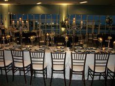 #reception table #wedding reception table #candelabra #unique wedding reception table idea #long reception table