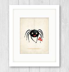 Spider nursery art print illustration animal by IreneGoughPrints