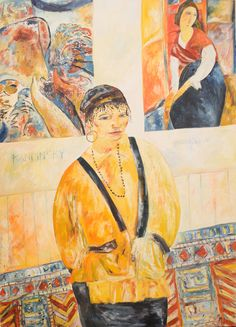 Portraits - My Daughter Anya 1985 Oil on Canvas 172.7x152.4cm by John Bellany