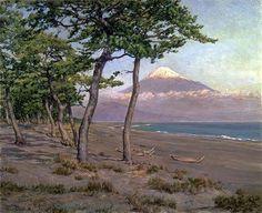 和田英作 - Wikipedia Celestial, Mountains, Sunset, Nature, Travel, Outdoor, Outdoors, Naturaleza, Viajes
