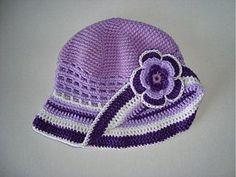 Detské čiapky - Fialový klobúk - 1485441