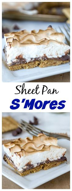 Sheet Pan S'mores Tart – S'mores aren't just for around the campfire, check out…