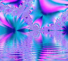 This fractal lake artwork was created by Tracey Lee Everington of Tracey Lee Art Designs. It shows a fractal pattern in pink, blue and turquoise. Fractal Art, Fractals, Fractal Patterns, Cute Illustration, Pretty Pictures, Pink Blue, Fine Art America, Art Designs, Turquoise