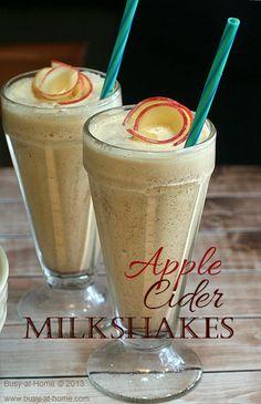 Apple Cider Milkshakes