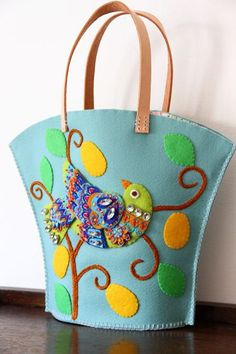 Crafts at Fourways. Felt Embroidery, Felt Applique, Head Band, Felt Purse, Felt Birds, Fabric Birds, Felt Hearts, Wet Felting, Handmade Bags