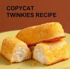 CopyCat Twinkies Recipe!! Plus 3 More Favorite Hostess Recipes- #twinkie #hostess