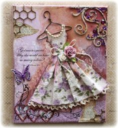 Vintage Dress canvas with tutorial - Scrapbook.com