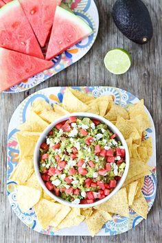 Watermelon Feta Guacamole Recipe