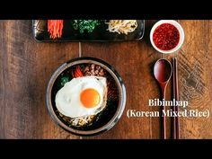 Bibimbap - Korean Mixed Rice with Meat and Assorted Vegetables