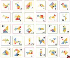 Voilà un jeu qui permet de développer la réflexion et le sens de l'observation. L'idée est de découper dans du carton de grande ta...