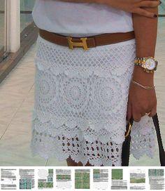Mini crochet skirt PATTERN for sizes XS-XL
