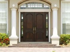 Black Stained Wooden Single Half Glass Modern Front Doors With 5 ...                                                                                                                                                     More