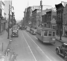 Liberty and Fifth Streets, Louisville, Kentucky, 1938. :: Caufield & Shook Collection