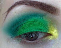 Dicas de maquiagens : Brazilian Flag Inspired (ácido verde)
