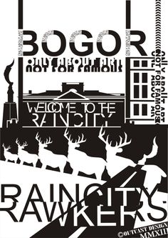 "RainCity Poster ""Typhography"" humancreative@hotmail.co.id"