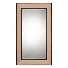 Barstow Woven Linen Oversized Mirror Uttermost Rectangle Mirrors Home Decor