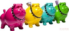 Money Box Bulldog Spike XL  Assorted by KARE Design #KARE #KAREDesign #Bulldog #Dog #Spikes #Fun #Colour #Moneybox #Crazy