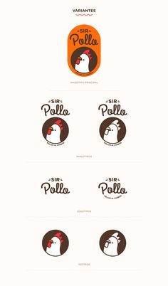 SIR POLLO - This logo is really funny, and can be used in so many ways seeing how it doesn& need to have - Food Logo Design, Logo Food, Brand Identity Design, Graphic Design Branding, Logo Branding, Web Design, T Logo, Logo Animal, Chicken Logo
