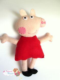 Peppa Pig em feltro