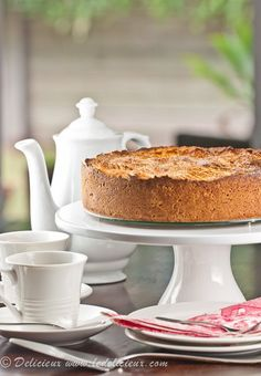 Apple Breton Cake - This gorgeous dessert cake is reminiscent of the buttery fruit-filled cakes of France. Packed full of apples and spices it is hard to resist.