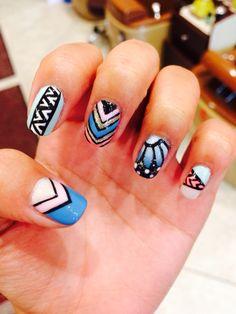 Blue & pink butterflies