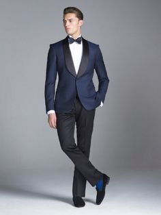 Casual Groom Tuxedo Navy Blue Suits for Men Wedding Blazer Black Trouser Costume Homme Coat+PantsMan Outfit Slim Fit Terno Masculino Blue Suit Men, Navy Blue Suit, Blue Suits, Black Tux, Navy Blue Tuxedos, White Tux, White Suits, Groom Tuxedo, Tuxedo For Men