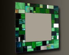 Easy way to spruce up a plain mirror.
