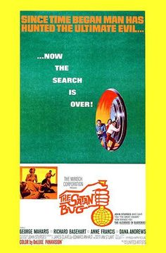 The Satan Bug - 1965 - Movie Poster 1960s Movies, Vintage Movies, Richard Basehart, Jerry Goldsmith, Dana Andrews, Anne Francis, The Great Escape, Movie Poster Art, Satan