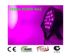 Nuevo 2017 18x8 W RGBW 4in1 RGBW 4IN1 RGBW LED Flat Par Color Mixing LED DJ Luz de la Colada Etapa Uplighting KTV Del Disco  #Affiliate