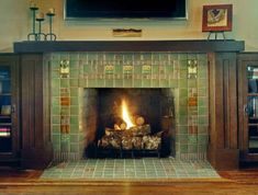 fireplace tile ideas pictures | ... Designs, its contrasting colors and textures come together to create a