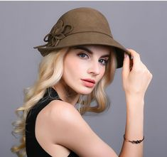 f363417d Women's Hats Vintage · Hat Wool Dome Fedora English Style Formal Casual  Autumn Winter Custom Design #VFSHat #Fedora