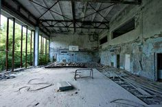 Abandoned cities around the world. Pripyat Ukraine.