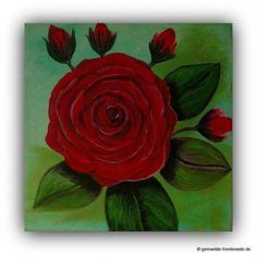 Acrylbild Rose 20x20cm, 30€ + Versand