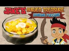 ▶ Jake's Banana Pudding with Mango Purée and Banana Sliced Doubloons & Mango Gold Bars | Disney - YouTube