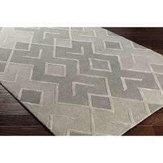 Wrought Studio Vazquez Modern Hand-Tufted Gray Area Rug Rug Size: Rectangle x Wool Area Rugs, Blue Area Rugs, Contemporary Area Rugs, Carpet Stains, Indoor Rugs, Home Decor Trends, Accent Furniture, Online Home Decor Stores, Cool Rugs