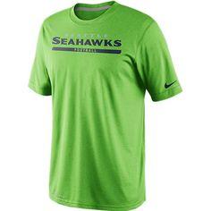 Mens Action Green Legend Elite Font Tee -  30.00 Seahawks Football 53ee7db38