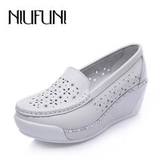 Check current price Breathable Comfortable Women's Flats 2016 New Arrival Split Leather Shoes Women Summer Spring Hollow Platform Boat Shoes just only $20.24 with free shipping worldwide  #womenshoes Plese click on picture to see our special price for you
